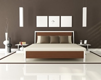 A bedroom is a private room where people usually sleep for the night or relax during the day