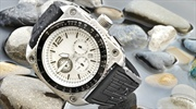 A watch is a small timepiece, typically worn either on the wrist or attached on a chain and carried...